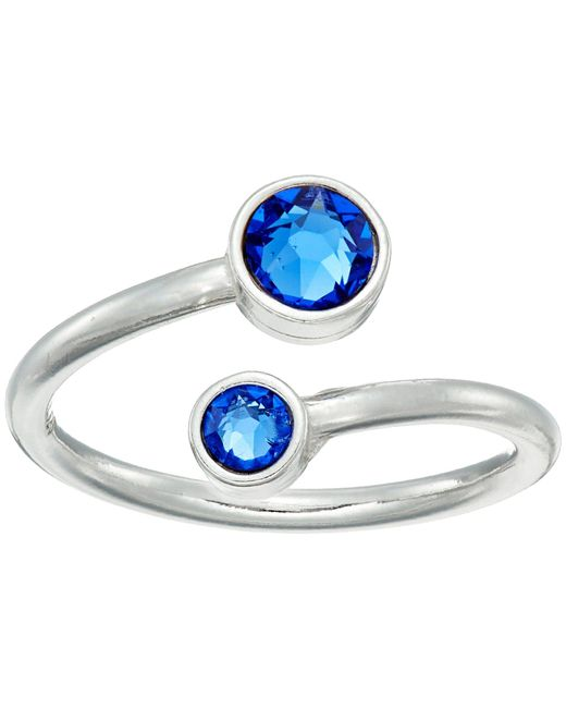 ALEX AND ANI - Blue Birthstone Ring Wrap (sterling Silver/september) Ring - Lyst