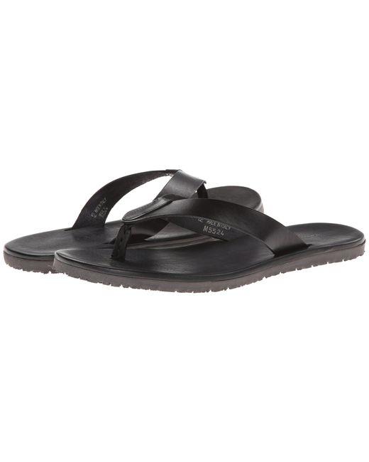 Massimo Matteo - Leather Thong Sandal (black) Men's Sandals for Men - Lyst