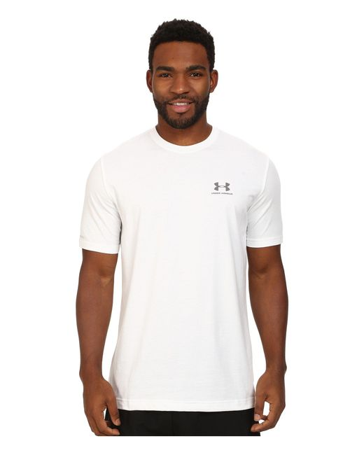 Under Armour - White Charged Cotton® Left Chest Lockup for Men - Lyst