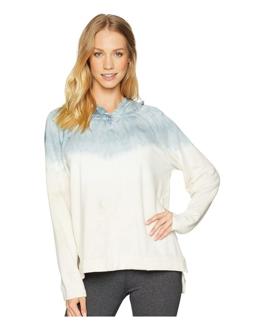 Hard Tail - Blue Slouchy Long Sleeve Hoodie (crystal Dip-dye 2) Women's Sweatshirt - Lyst