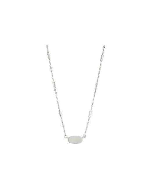 Kendra Scott - Metallic Fern Necklace (gunmetal) Necklace - Lyst