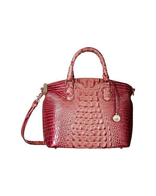 Brahmin Red Melbourne Duxbury Satchel Blossom Handbags Lyst