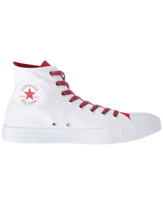 Converse CHUCK TAYLOR ALL STAR COURT PREP BLOCK - High-top trainers - white/gym red/navy vyfbGV