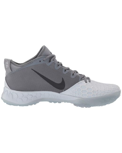 491858e2f ... Nike - Gray Force Zoom Trout 5 Turf (white black) Men s Cleated Shoes  ...