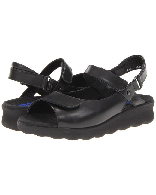 Wolky - Black Pichu (blue Circles) Women's Sandals - Lyst