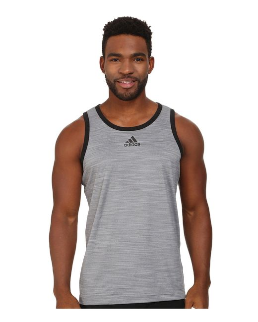 Adidas - Gray Heathered Tank for Men - Lyst