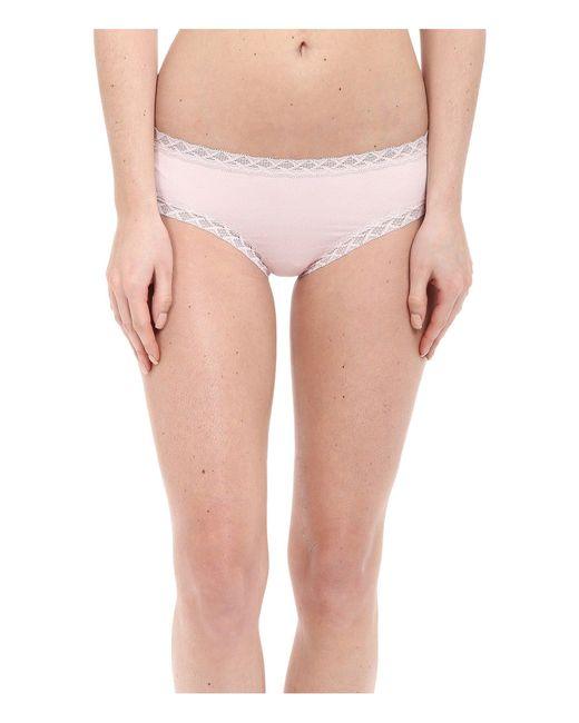Natori - Bliss Cotton Girl Brief (blushing Pink) Women's Underwear - Lyst