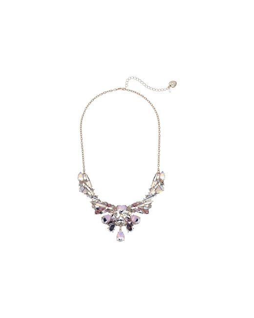 Betsey Johnson - Stone Frontal Necklace (pink) Necklace - Lyst