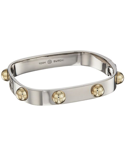 Tory Burch - Metallic Stacked Studded Bracelet - Lyst