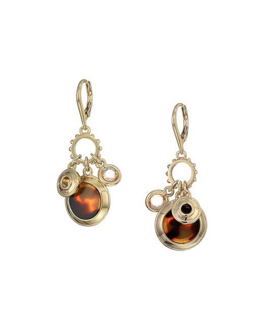Lauren by Ralph Lauren - Metallic Rose Shaky Charm Drop Earrings (gold) Earring - Lyst