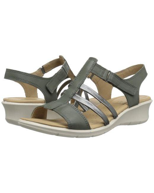 Ecco - Multicolor Felicia Ankle Sandal (moon/dark Shadow Cow Leather) Women's Sandals - Lyst