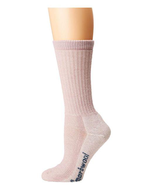 Smartwool - Pink Hike Medium Crew (taupe) Women's Crew Cut Socks Shoes - Lyst