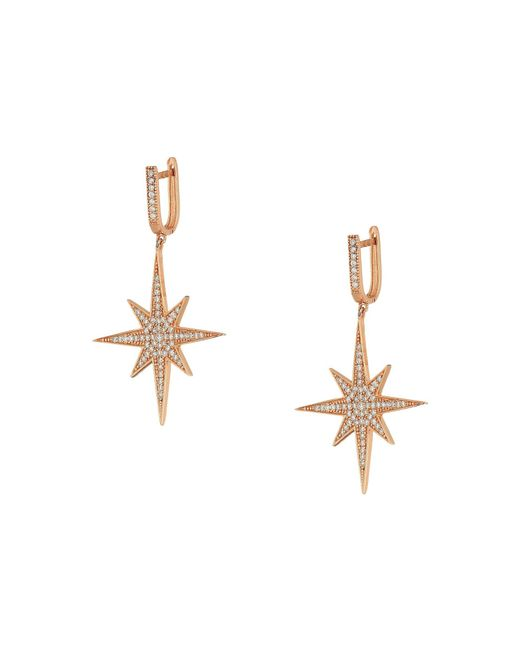 Shashi - Multicolor Aria Star Drop Earrings (rose Gold) Earring - Lyst