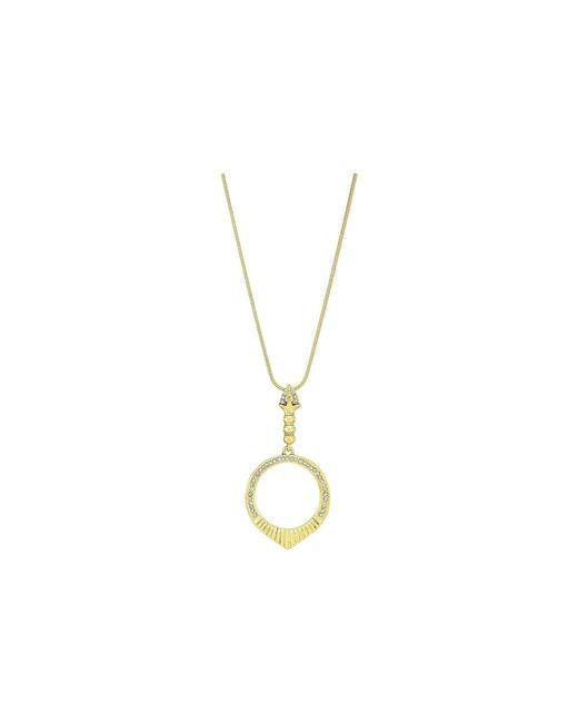 House of Harlow 1960 - Metallic Luna Small Stone Necklace (rose Gold/purple Agate) Necklace - Lyst