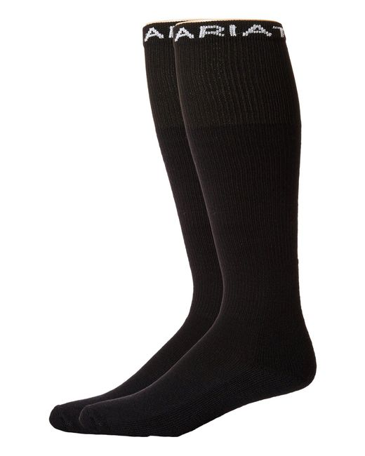 Ariat - Black Over The Calf 2-pack Socks for Men - Lyst