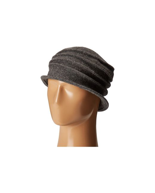 San Diego Hat Company - Gray Cth8089 Soft Knit Cloche With Accordion Detail - Lyst