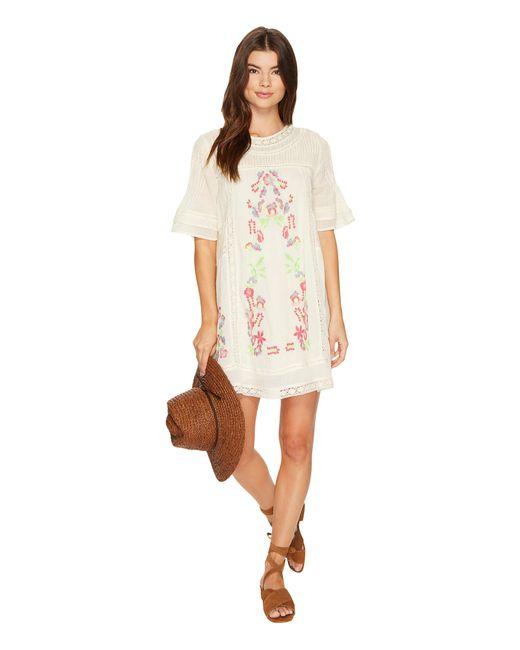 Free People | White Victorian Mini Dress | Lyst
