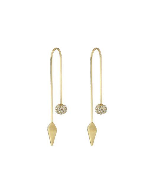 Rebecca Minkoff - Metallic Cube/ball Threader Earrings - Lyst