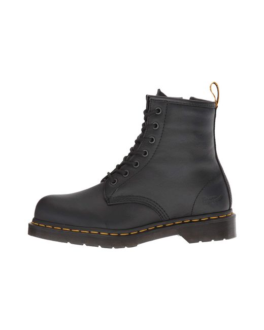 2f77446e560f ... Dr. Martens - Maple Steel Toe Zip (black Newark) Women s Work Boots ...