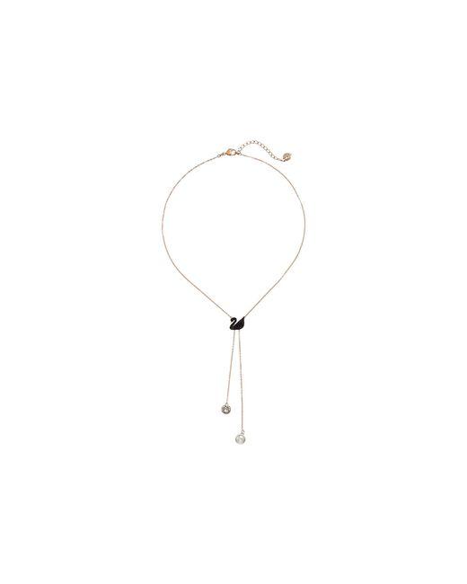 Swarovski - Multicolor Double Y Iconic Swan Necklace - Lyst