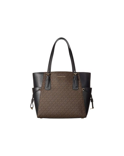 0597c09a522a MICHAEL Michael Kors - Voyager East west Tote (brown black) Tote Handbags  ...