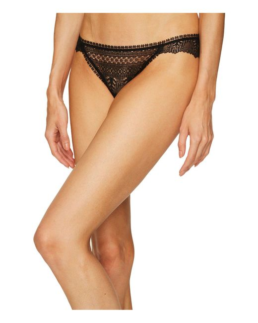 Else - Black Ivy Lace Thong - Lyst