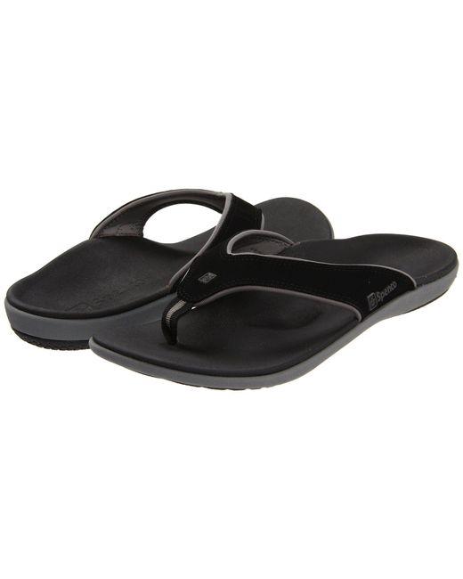 Spenco - Black Yumi (carbon/pewter) Men's Sandals for Men - Lyst