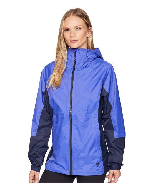 Mountain Hardwear - Exponent Jacket (blue Print) Women's Coat - Lyst