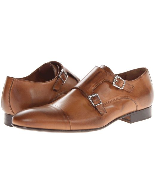 Massimo Matteo - Brown Dbl Monk Cap Toe (brandy) Men's Slip On Shoes for Men - Lyst