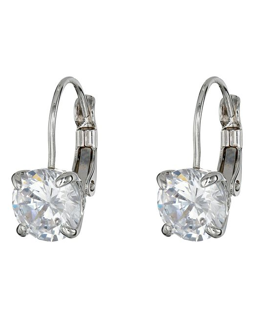 Cole Haan - Metallic Lever Back Cubic Zirconia Earrings - Lyst