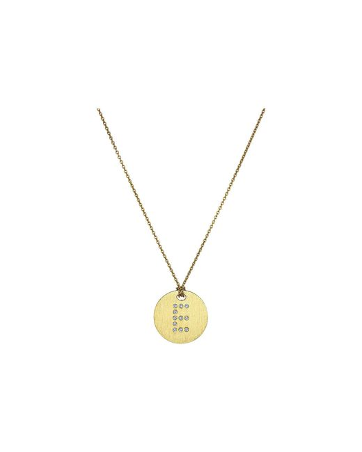 Roberto Coin - Metallic Tiny Treasures 18k Yellow Gold Initial E Pendant Necklace (yellow Gold) Necklace - Lyst