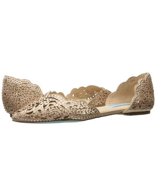 Betsey Johnson - Natural Lucy (ivory Satin) Women's Shoes - Lyst
