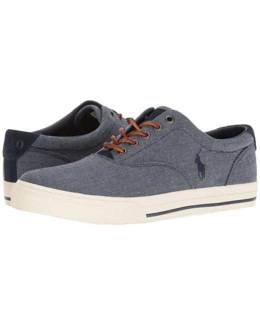 Polo Ralph Lauren - Blue Vaughn (denim Chambray Herringbone/sport Suede) Men's Lace Up Casual Shoes for Men - Lyst