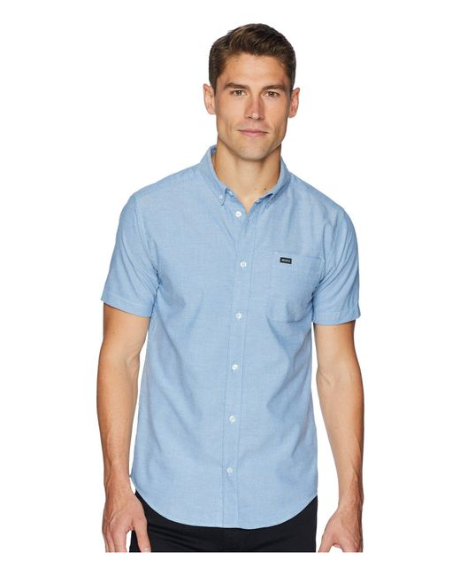 RVCA - Blue That'll Do Stretch Short Sleeve Woven (dusty Yellow) Men's Clothing for Men - Lyst
