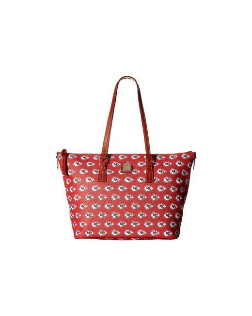 Dooney & Bourke - Multicolor Nfl Zip Top Shopper (seattle) Top-zip Handbags - Lyst
