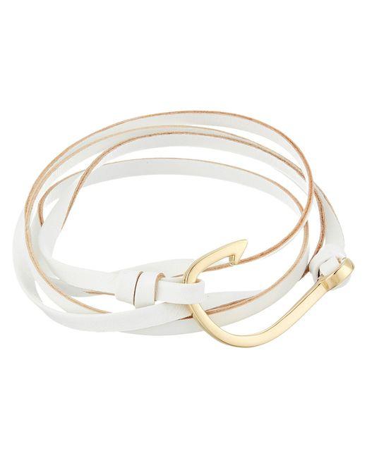 Miansai - Leather Hook Bracelet (white) Bracelet - Lyst