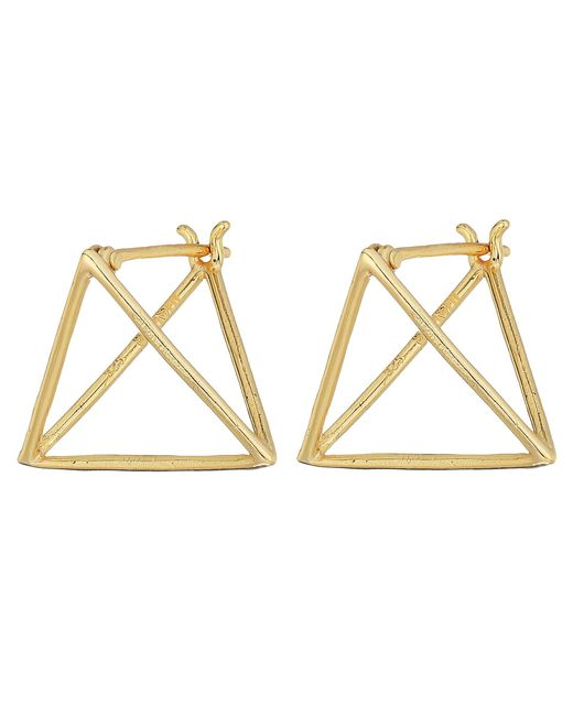 Shashi - Metallic Pyramid Earrings (gold) Earring - Lyst