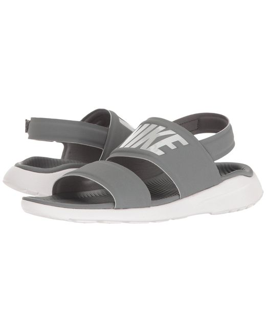 5eb586bc77875e Lyst - Nike Tanjun Sandal (black black white) Women s Shoes in Gray