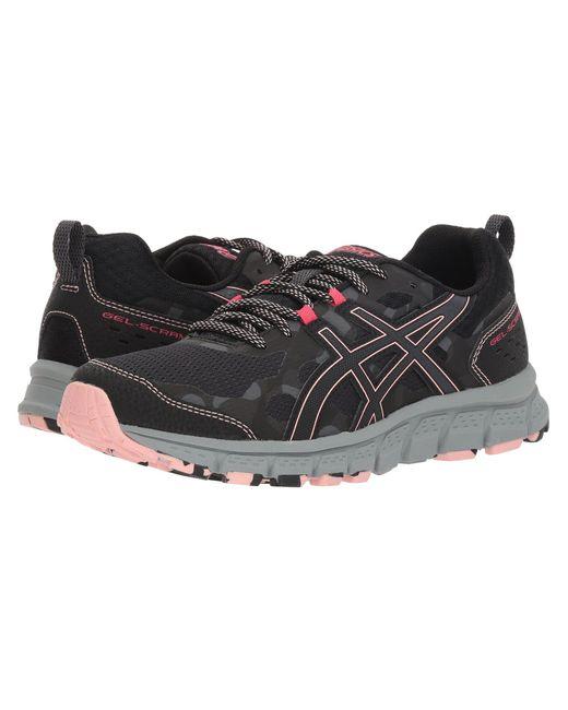 Asics - Gray Gel-scram 4 (black/dark Grey) Women's Running Shoes - Lyst