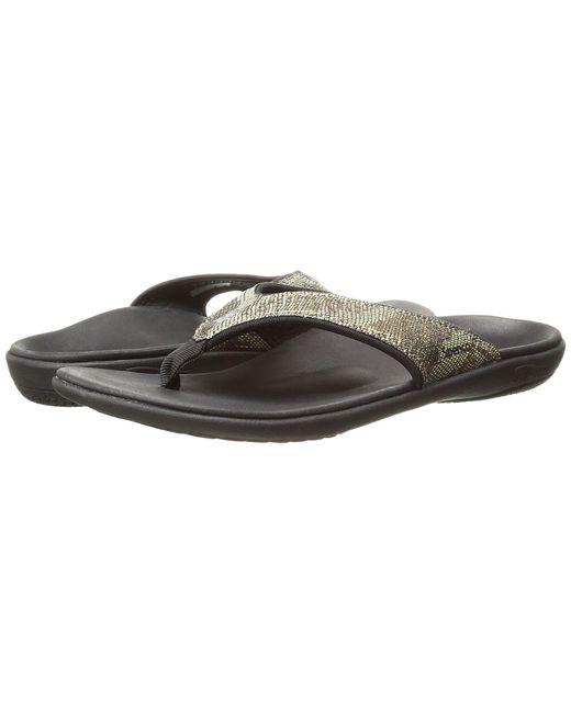 Spenco - Metallic Yumi Python (copper) Women's Sandals - Lyst