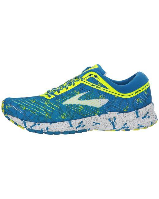 Lyst - Brooks Launch 5 (pink/blue/white) Women's Running ...