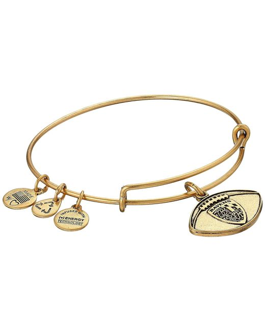 ALEX AND ANI - Metallic Nfl Baltimore Ravens Football Bangle - Lyst