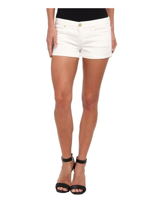 Blank NYC - The Basic Cuff Short In White Lines (white Lines) Women's Shorts - Lyst