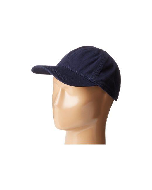 507bf822 Lacoste - Blue Croc Gabardine Cotton Cap (green) Caps for Men - Lyst ...