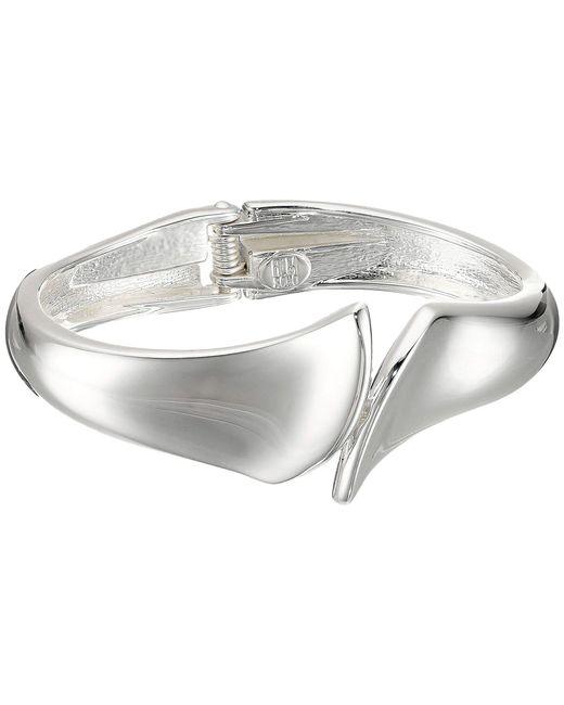 Robert Lee Morris - Metallic Bypass Hinge Bangle Bracelet (silver) Bracelet - Lyst