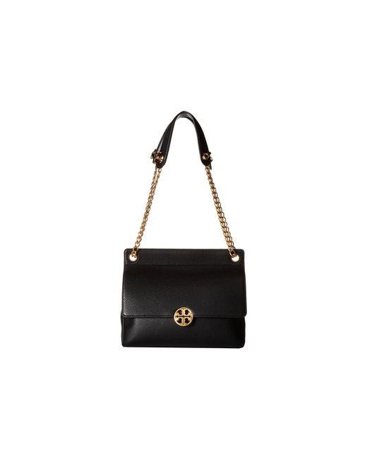 Tory Burch - Chelsea Flap Shoulder Bag (black) Shoulder Handbags - Lyst