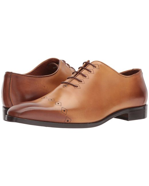 Massimo Matteo - Brown Laser Cap Toe (black) Men's Lace Up Cap Toe Shoes for Men - Lyst