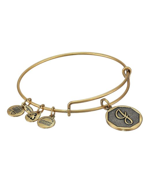 ALEX AND ANI - Metallic Initial J Charm Bangle - Lyst