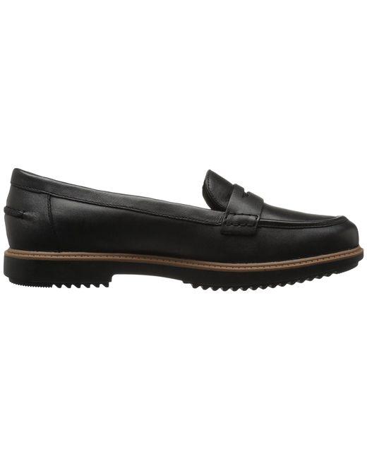 a068104ea09 ... Lyst Clarks - Raisie Eletta (black Leather) Women s Slip On Shoes ...