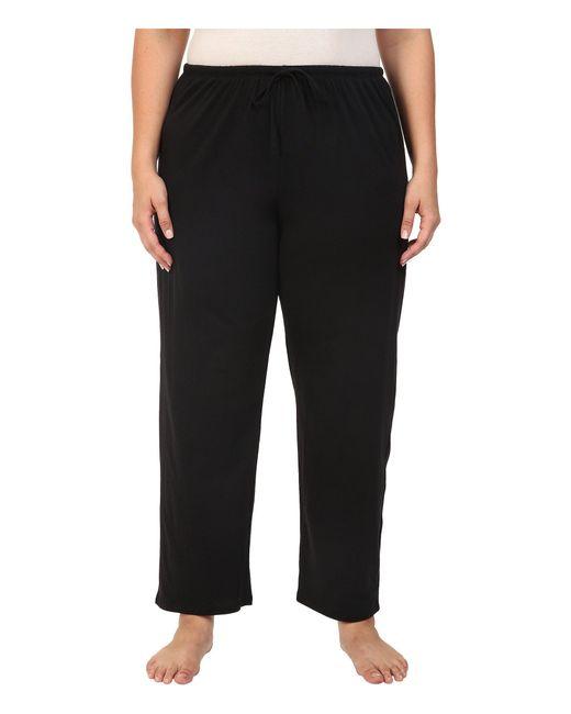 Jockey - Black Cotton Essentials Plus Size Long Pajama Pant - Lyst